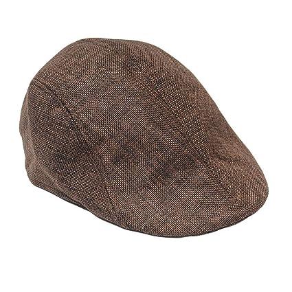 Amazon.com  Egmy Hat🍀Mens Women Old Retro Beret Hat Painter Hat ... 83cec1b8937