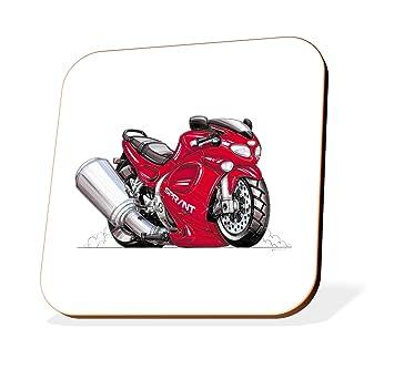 K1460-CST Koolart Gifts Cartoon Triumph Sprint ST Motorcycle Wooden Coaster for Cups & Mugs (Motorbike Gifts & Gift Ideas): Amazon.co.uk: Car & Motorbike