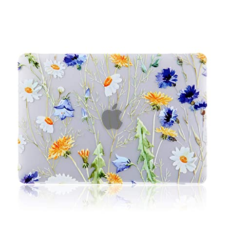 iDonzon MacBook Air 13 inch Case (A1932, 2018-2019 Release), 3D Effect Matte Clear See Through Hard Case Cover Only Compatible New MacBook Air 13.3 ...