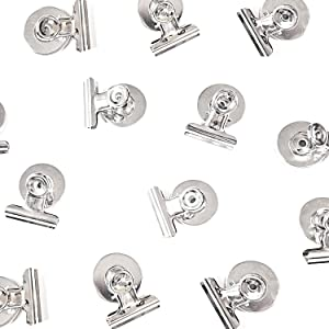 [Upgraded] 12 Strong Scratch-Free Refrigerator Magnet Clips for Organizing, Decorating & All of Life's Needs! - Bonus Magnetic Notepad - Best Value Set
