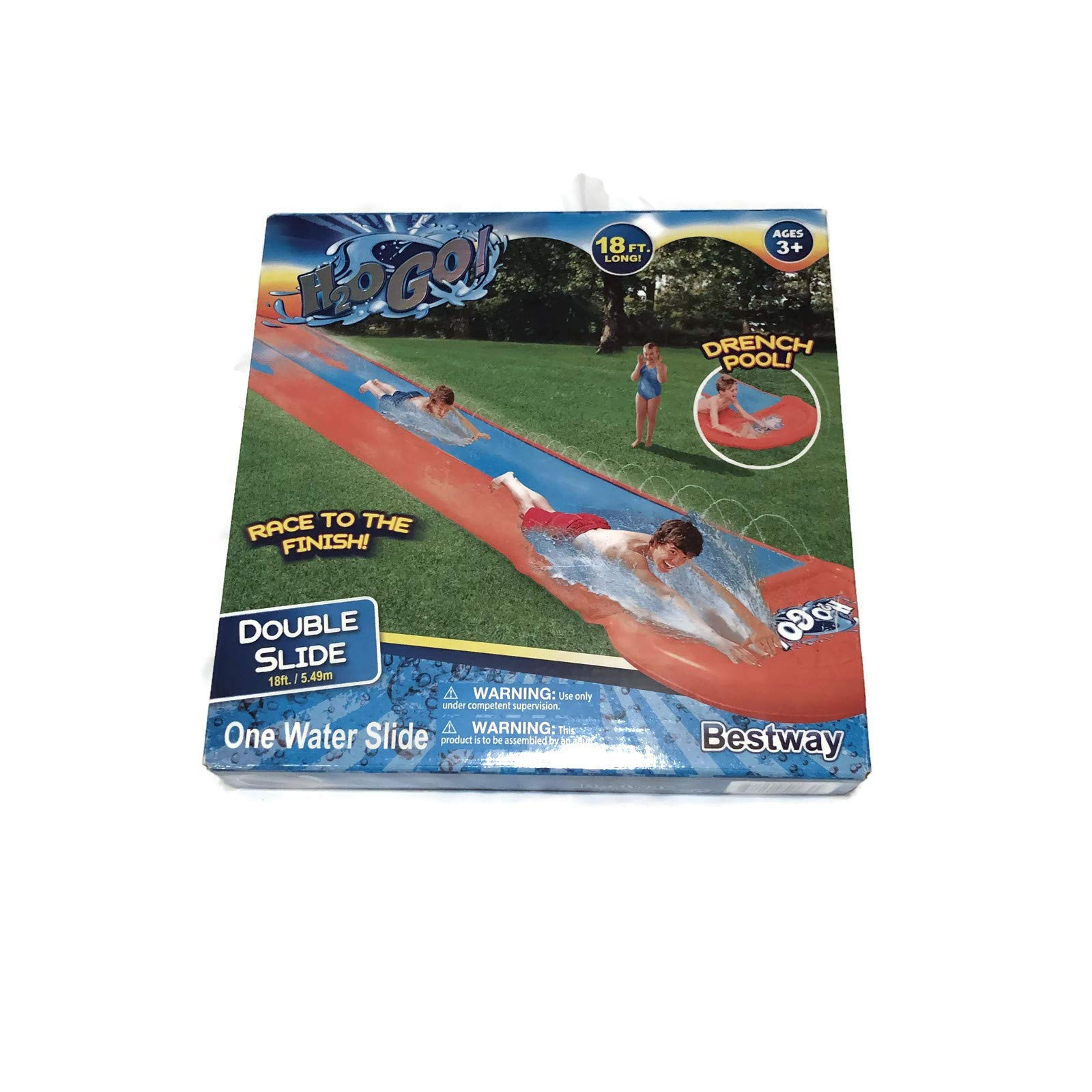 H2OGo 18' Long Double Water Slide