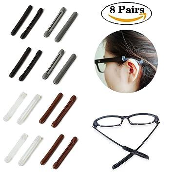 ed37b63109a Amazon.com  Soft Silicone Eyeglasses Temple Tips Sleeve Retainer ...