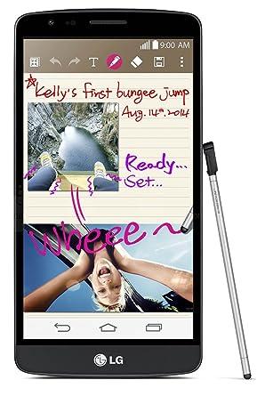 LG Electronics G3 Stylus D690 Dual SIM - Factory Unlocked Phone - Retail  Packaging (Black Titanium)