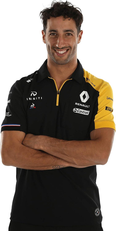 Polo para Hombre Oficial del Equipo Renault F1 2019, Color Negro ...