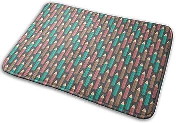 """Imagen deBLSYP Felpudo Pencils for Sloths Doormat Anti-Slip House Garden Gate Carpet Door Mat Floor Pads 15.8"""" X 23.6"""""""