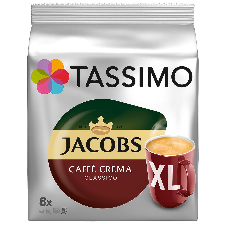Tassimo Jacobs Caffè Crema XL, Paquete de 2, 2 x 16 T-Discs: Amazon.es: Alimentación y bebidas