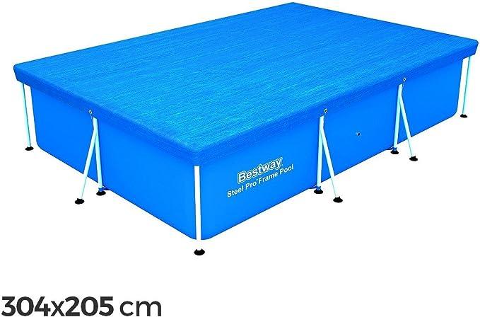 58106 Cubierta piscina rectangular de 304x205 cm de PVC Bestway ...
