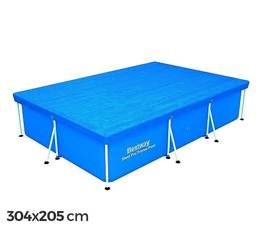 58106 Cubierta piscina rectangular de 304x205 cm de PVC Bestway
