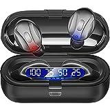 SEYOO Earbuds Mini Headphones, in-Ear Earphones with Charging Case, IPX5 Waterproof Hi-Fi Stereo Built-in Mic Headset for Spo