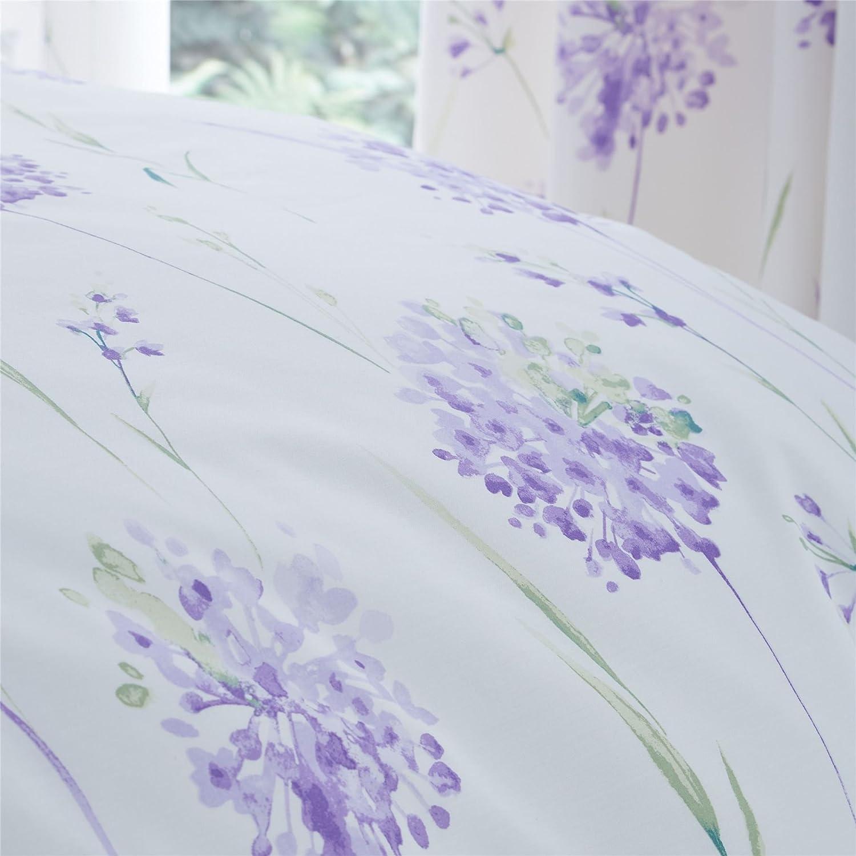 Lauch Blumen Lila Grün 144 Tc Baumwollmischung Einzelbett Bettbezug Bettwaren, -wäsche & Matratzen Bettwäschegarnituren