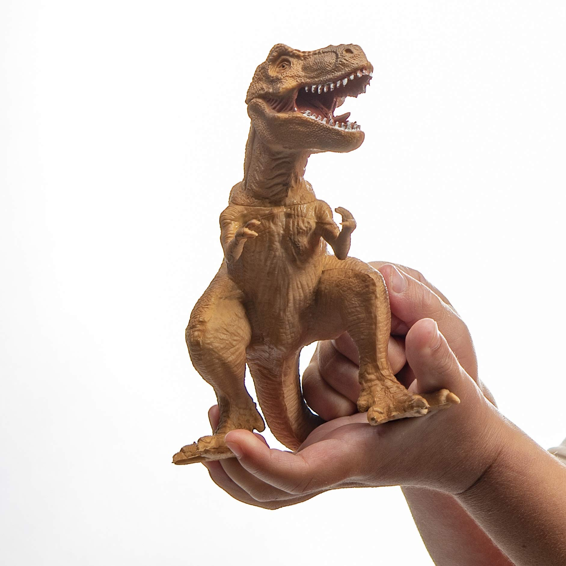 Prextex Realistic Looking 10'' Dinosaurs Pack of 12 Large Plastic Assorted Dinosaur Figures by Prextex (Image #2)