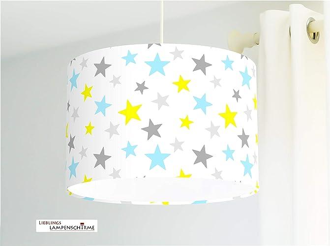 Deckenlampe Kinderlampe mit Sternen für Babys und Kinderzimmer gelb ...