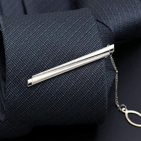 Vestido de Hombre Clip de Corbata Plateado Simple Business ...