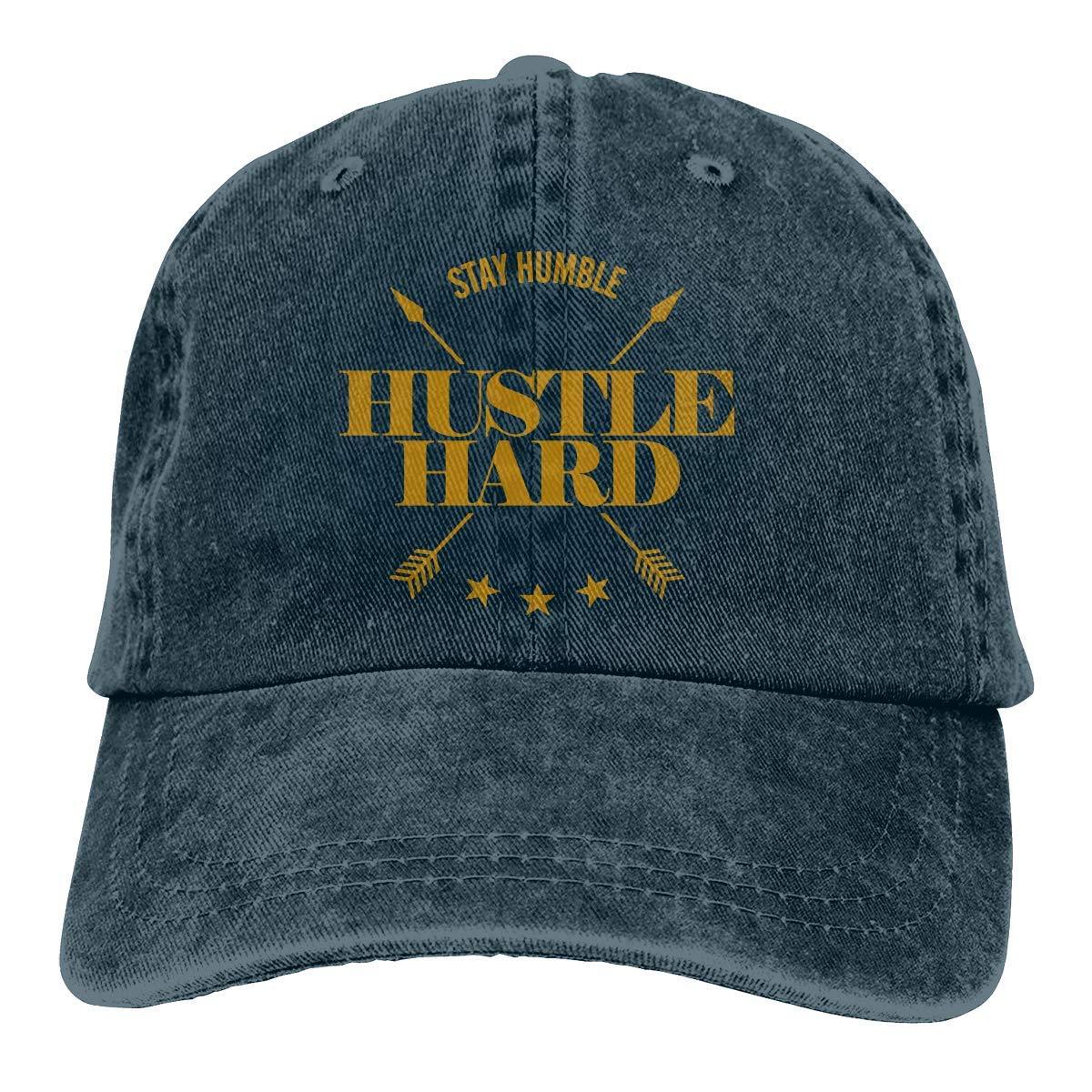 6c2eceb5 Stay Humble, Hustle Hard Denim Dad Cap Baseball Hat Adjustable Sun Cap at  Amazon Men's Clothing store: