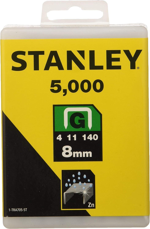 Stanley 1-TRA705-5T Lot de 5000 agrafes robustes de type G 8 mm