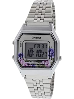 Casio Womens Vintage LA680WA-4C Silver Stainless-Steel Quartz Fashion Watch