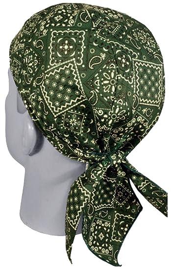 2c2e00459d Image Unavailable. Image not available for. Color  Green Paisley Doo Rag Du  Rag Do Cotton Bandana Headwrap Chemo Cap