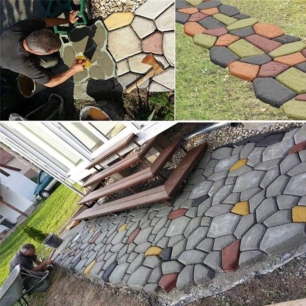 Crewell Garden DIY - Molde de Cemento para Manualidades, plástico, Modelo de pavimento de hormigón, E: Amazon.es: Hogar