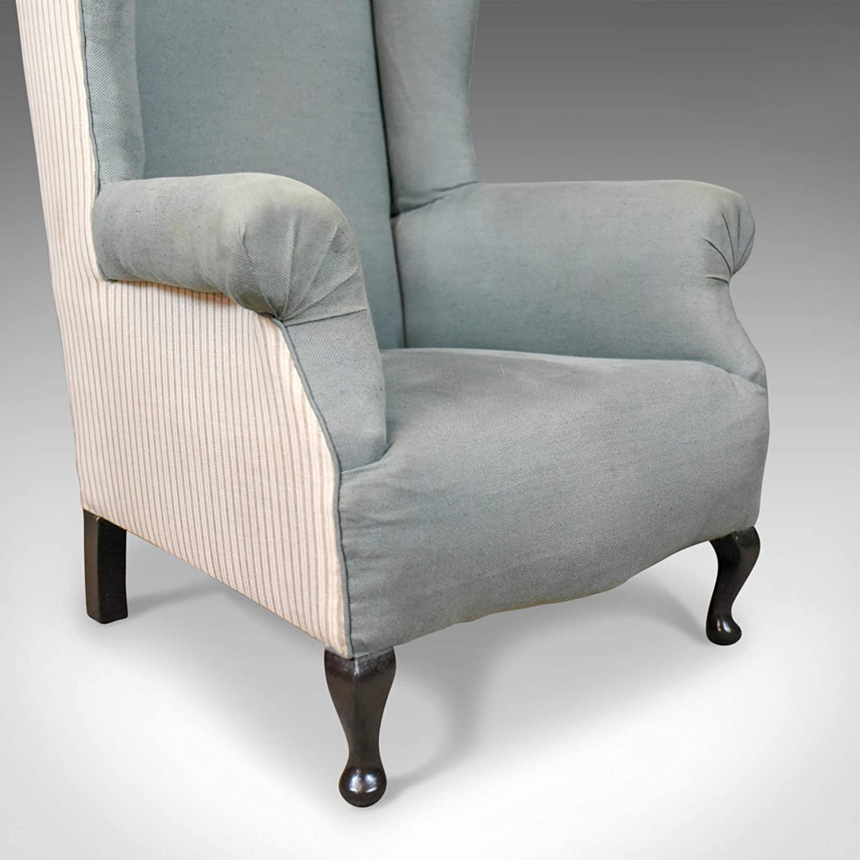 Silla de respaldo estilo antiguo, inglés, edwardian, sillón ...