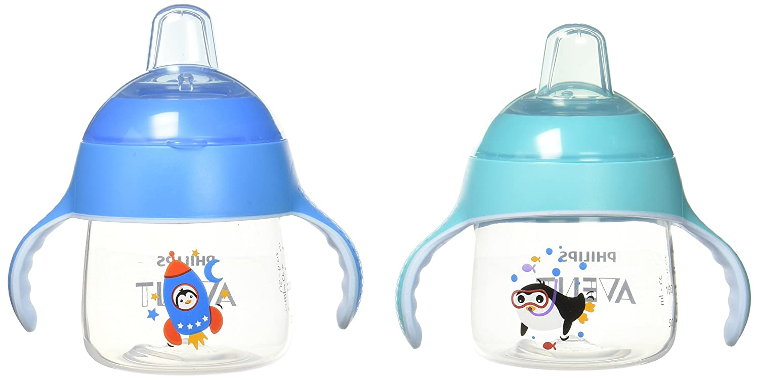Philips Avent My Little Sippy Cup, Teal/Blue, 7oz, 2 piece SCF751/27