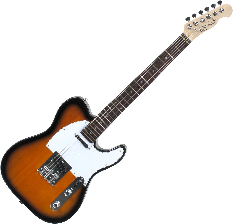 Rocktile TL100 Pro-SB - Guitarra eléctrica, 2 tonos, sunburst ...
