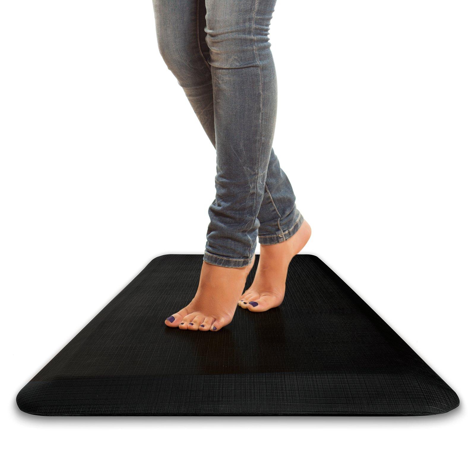 Standing Logic 42'' x 21'' Anti Fatigue Non Slip Kitchen Mat - Standing Desk - 3/4'' Comfort