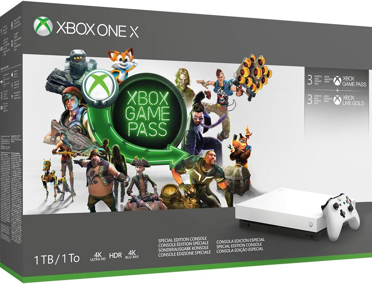 Xbox One X 1TB White - Game Pass & Live White bundle - Xbox One [Importación inglesa]: Amazon.es: Videojuegos