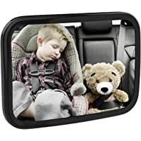 MoKo Baby Car Mirror, Shatterproof Acrylic Backseat Mirror for Car Rearview Infants Adjustable Rear Facing Mirror with…