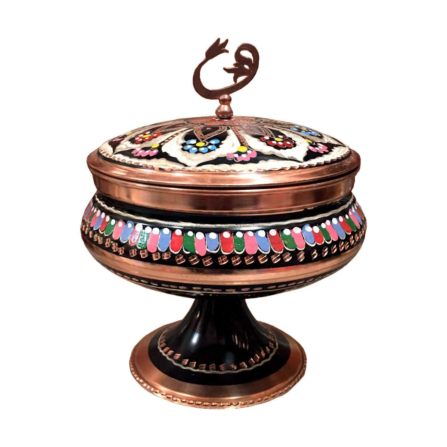 Turkish Gorgeous Handcrafted HandPainted Sugar Candy Chocolate Serving Bowl