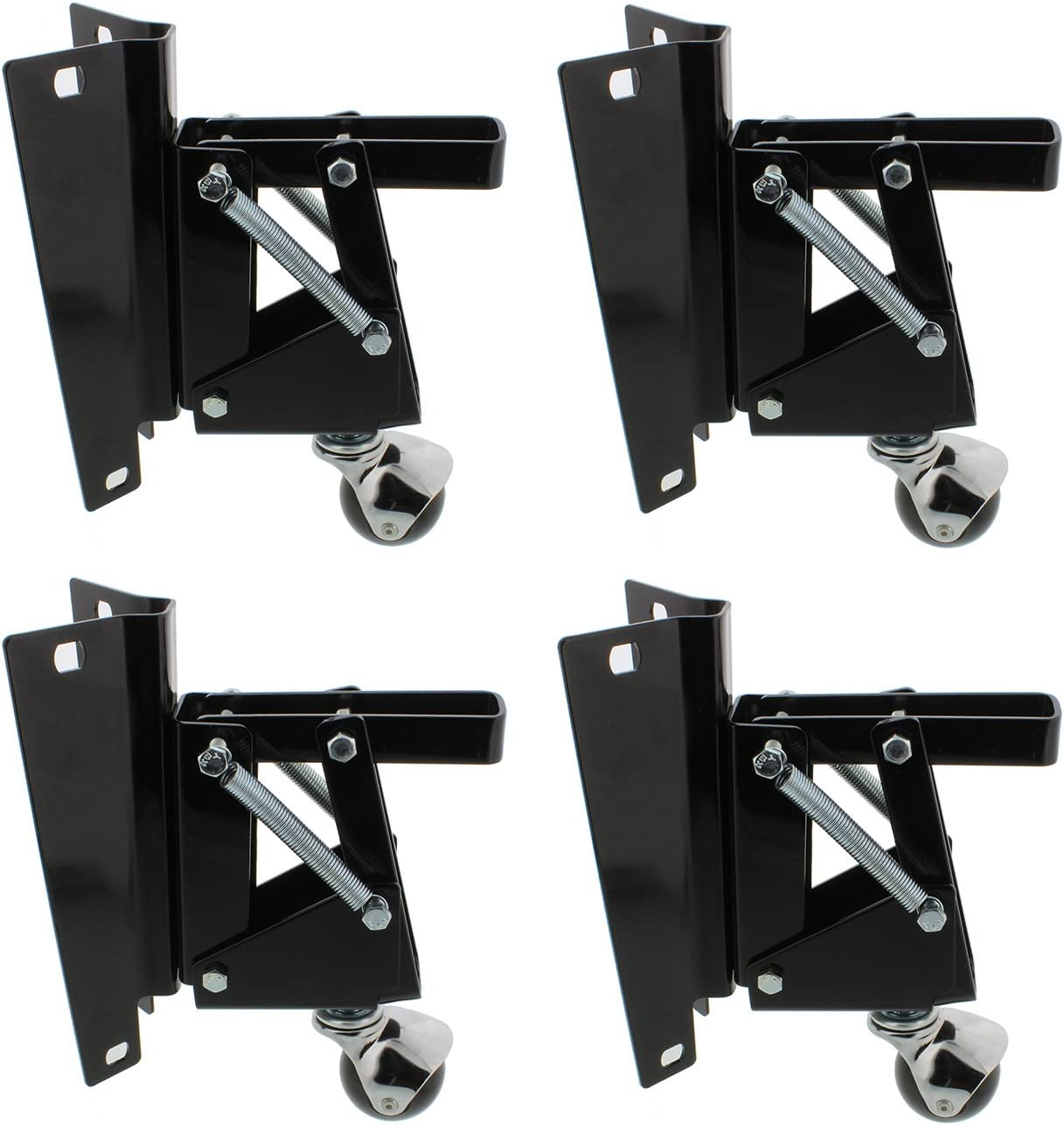 Dct Heavy Duty Retractable Workbench Contractor Saw Swivel Caster Wheels Assembly Set With Mounting Plate Bracket 4 Pack Amazon Com
