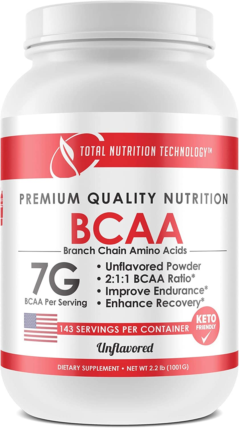 BCAA Powder – unflavored – 2 1 1 Ratio – by Total Nutrition Technology 1001 Gram