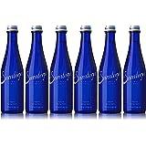 Saratoga Natural Spring Water, 12oz Cobalt Blue Glass Bottle (Pack of 6, Total of 72 Fl Oz)