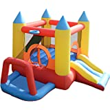 Costzon Inflatable Bouncer Jumping Castle Moonwalk Slide Bounce Play House