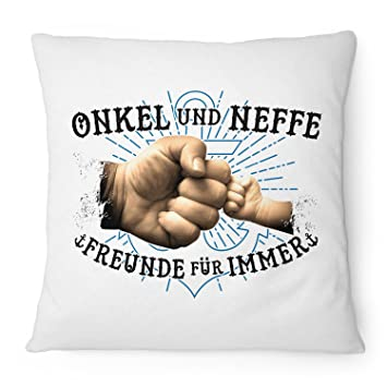 Tante /& Neffe Kissen 40x40 cm Geburtstag Geschenk Idee Geburt Baby Junge Cool