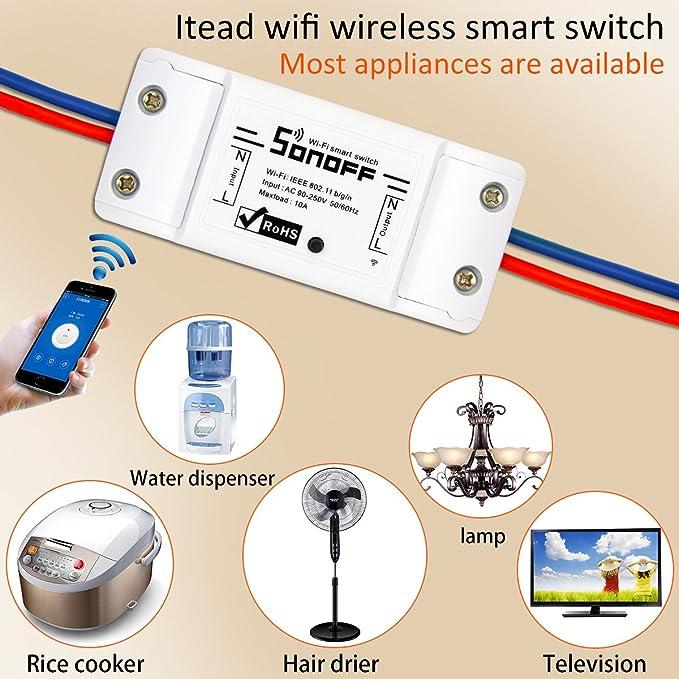 Sonoff Basic Inteligente Interruptor de Control Remoto WIFI ...