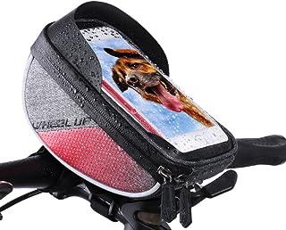 Sxinga Vélo Sac Cadre Sac étanche écran tactile de vélo Top Tube Sac de téléphone pour téléphone portable ci-dessous 15,2cm avec pare-soleil 2cm avec pare-soleil color 1 (black&red)