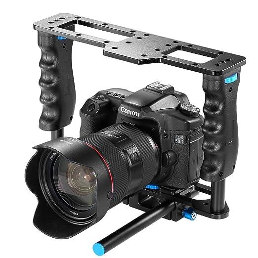 NeewerPro® (Versión profesional de Neewer) Jaula de Aluminio de Cámara con barra de 15mm para Canon 5D mark II/ 5D mark III/700D 650D 600D 550D 500D ...
