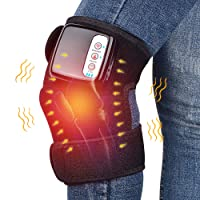 Heated and Vibration Knee Massager Brace Wrap, HailiCare 3 in 1 Rechargeable Electric...