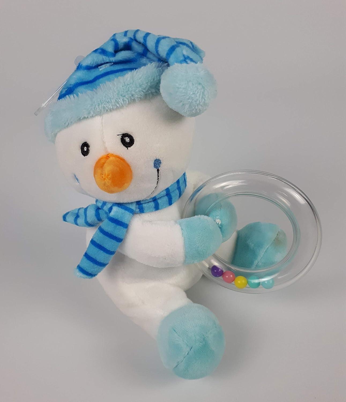 Bleu Gar/çon b/éb/é Douche Panier cadeau de nouvelle Maman Livraison gratuite. G/âteau de couches de luxe Bonhomme de neige Hochet /à 2//étages Garnissage