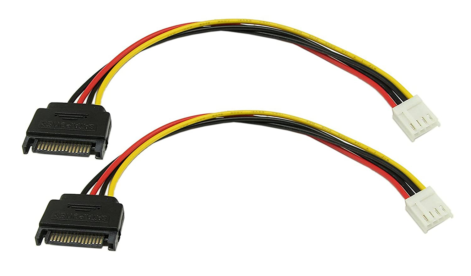 "12/"" 15 Pin SATA Serial ATA Male to 4 Pin Molex 4Pin Floppy Female Power Cable"