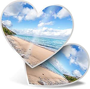 Awesome 2 x Heart Stickers 7.5 cm - Lake Michigan North America USA Fun Decals for Laptops,Tablets,Luggage,Scrap Booking,Fridges,Cool Gift #21781