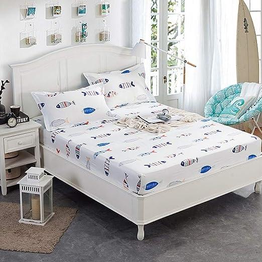 Hllhpc Sábanas de algodón con sábana de Goma Funda de colchón ...