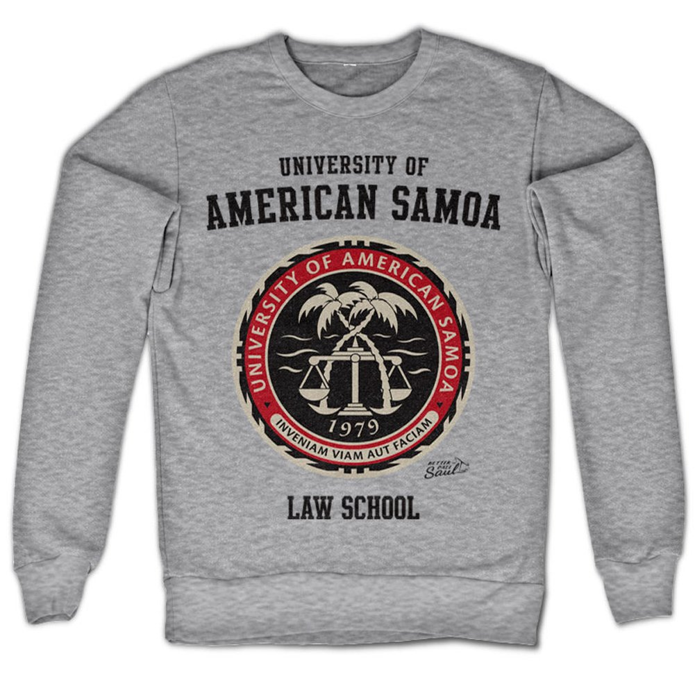 Better Call Saul Sweatshirt American Samoa Law School Official Mens Grey