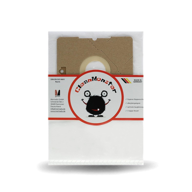 Acquisto Mertrado CleanMonster - 20 sacchetti per aspirapolvere AmazonBasics da 3 litri, compatibili con sacchetti AmazonBasics W11, Swirl Y101, Menalux 4000, VCB43B1-70EU4, fabbricati in Germania Prezzo offerta