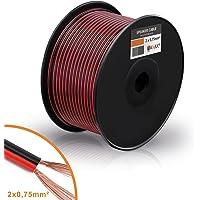 Câble de haut-parleur MANAX® 2 x 0,75 mm² rouge / noir 100,0 m