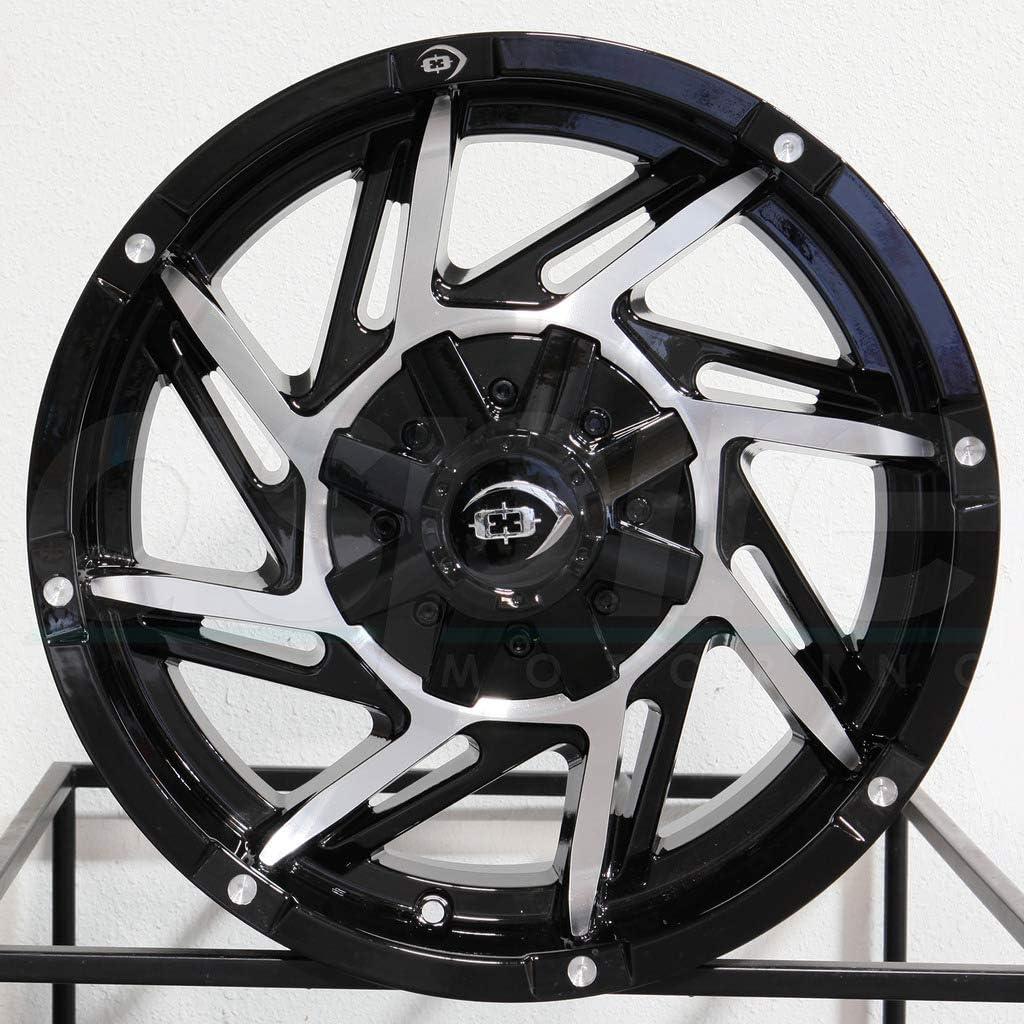 Vision 422 Prowler 17x9 6x139.7//6x5.5 12mm Black//Machined Wheel Rim