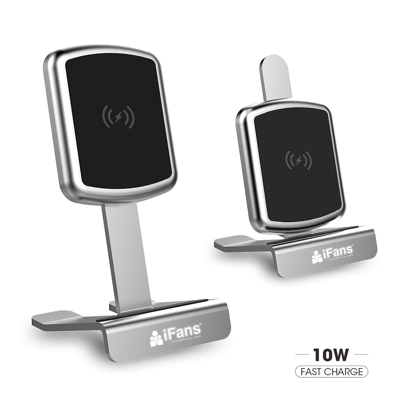 iFans Qi Cargador inalámbrico Soporte de Aluminio para iPhone 8/8 ...