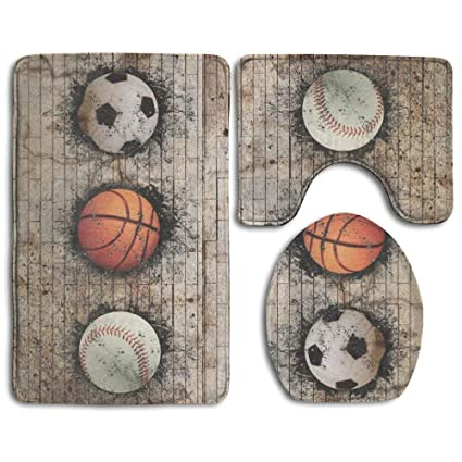 Amazon Com Basketball Soccer Baseball Ball Bathroom Accessories