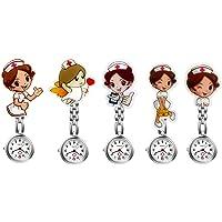 Avaner - Juego de 5 Relojes de Enfermera