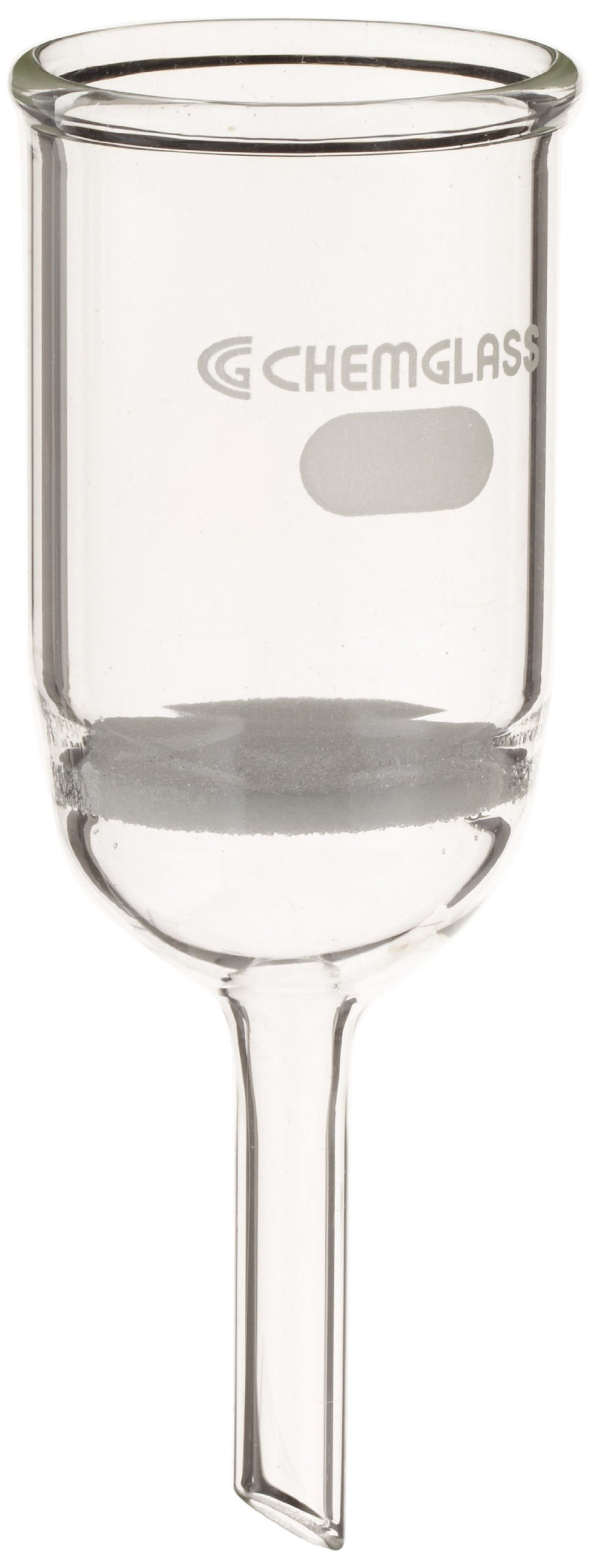 Chemglass CG-1402-10 Glass Buchner Filtering Funnel with Coarse Frit, 30mL Capacity, 8mm OD x 75mm Length Stem, 30mm Diameter